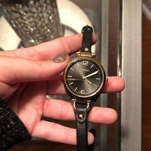 Fossil Jewelry - Leather Fossil Watch